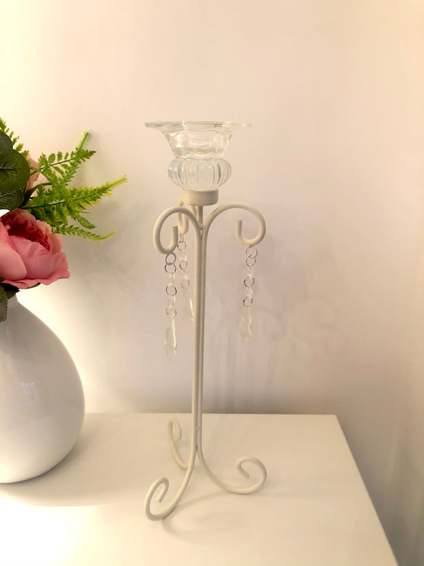 Cream Candlestick Holder