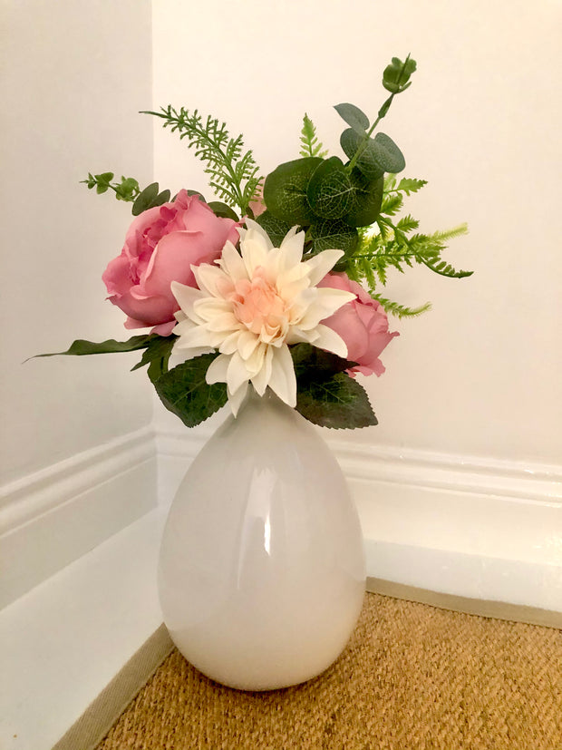 White Balloon Vase