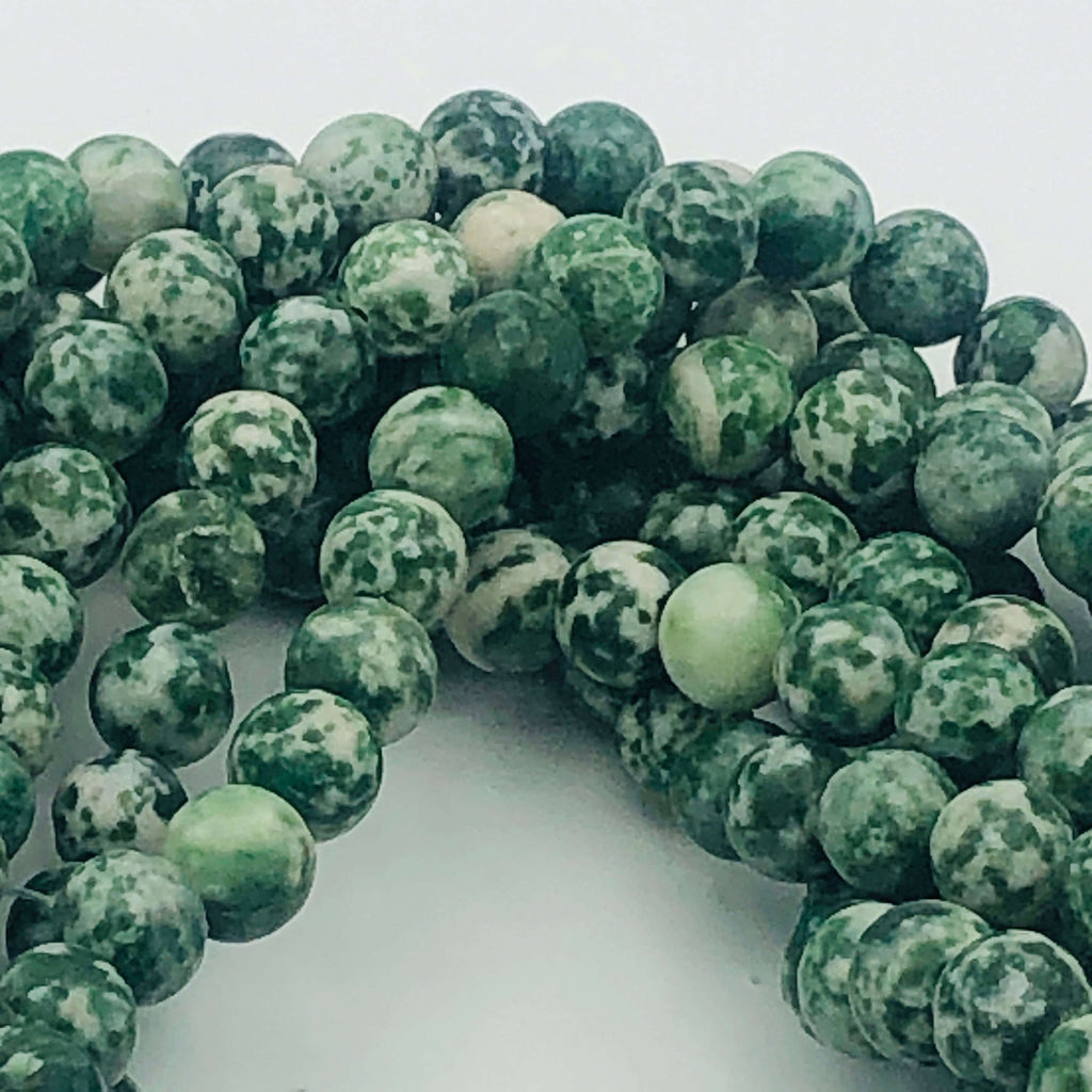 "Green Natural MOSS AGATE 6mm or 8mm Round Stranded BEADS  15 1/2"" to 16"" Long"