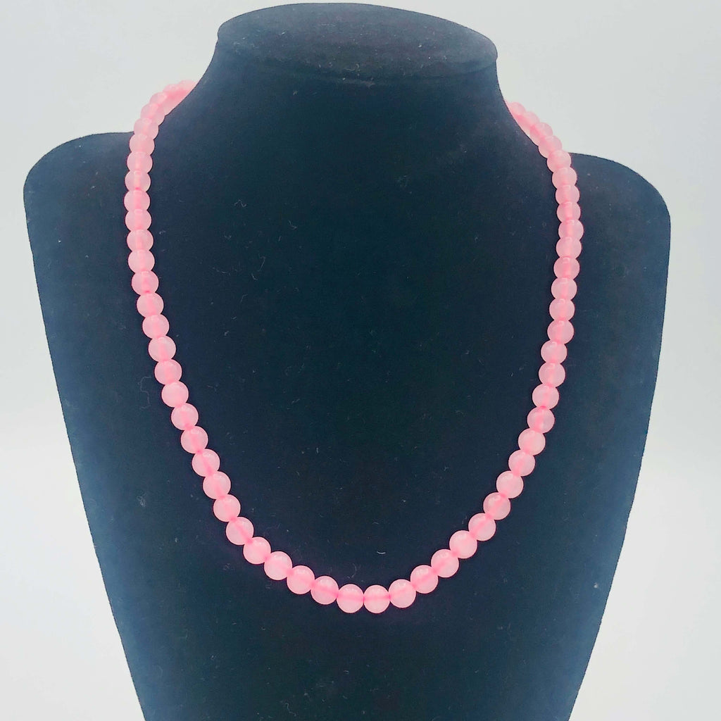 "PINK Natural Mountain JADE Dolomite Marble Dyed 6mm Round Stranded BEADS 15 1/2"" to 16"" Long"