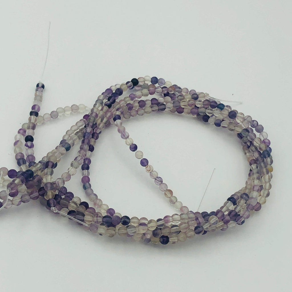 "Rainbow FLUORITE Natural 4mm or 6mm Round Stranded BEADS 15 1/2"" to 16"" Long"