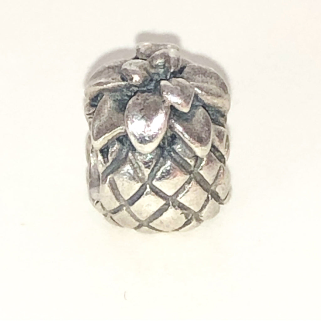 PANDORA PINEAPPLE CHARM Bead #790363 Sterling Silver Retired