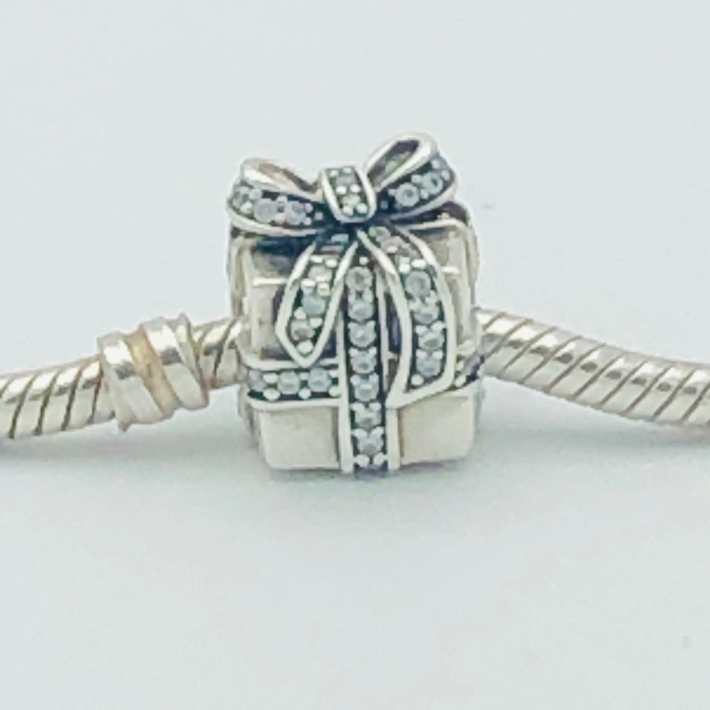 PANDORA Sparkling Surprise Sterling Silver Charm Bead With Cubic Zirconia #791400CZ Retired