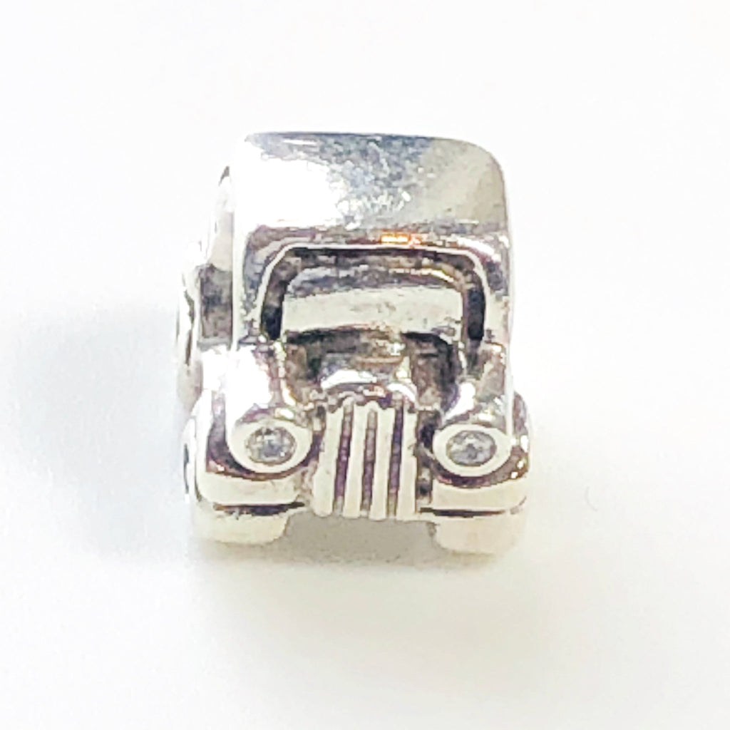PANDORA CAR Sterling Silver CHARM Bead With Cubic Zirconia Headlights #790405CZ Retired