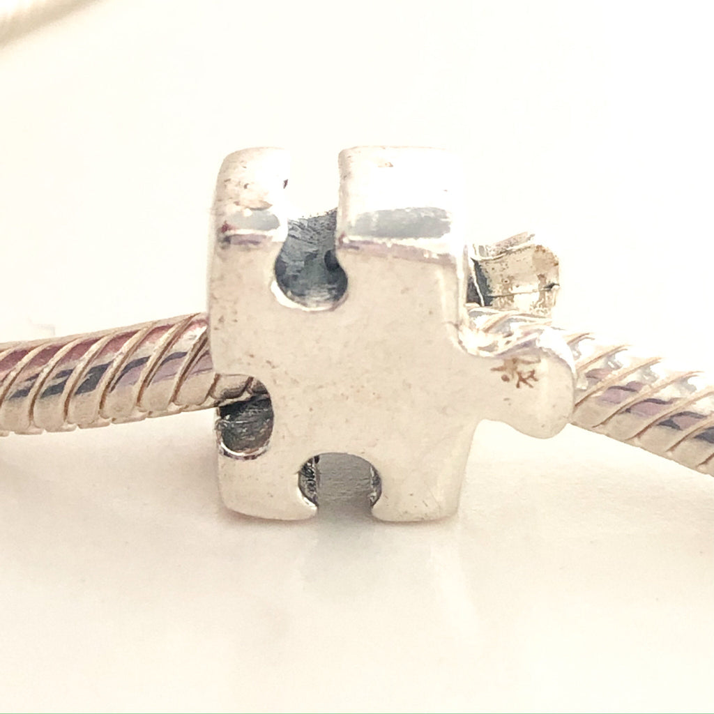 CHAMILIA Autism Puzzle Piece Sterling Silver Charm Bead GA-77