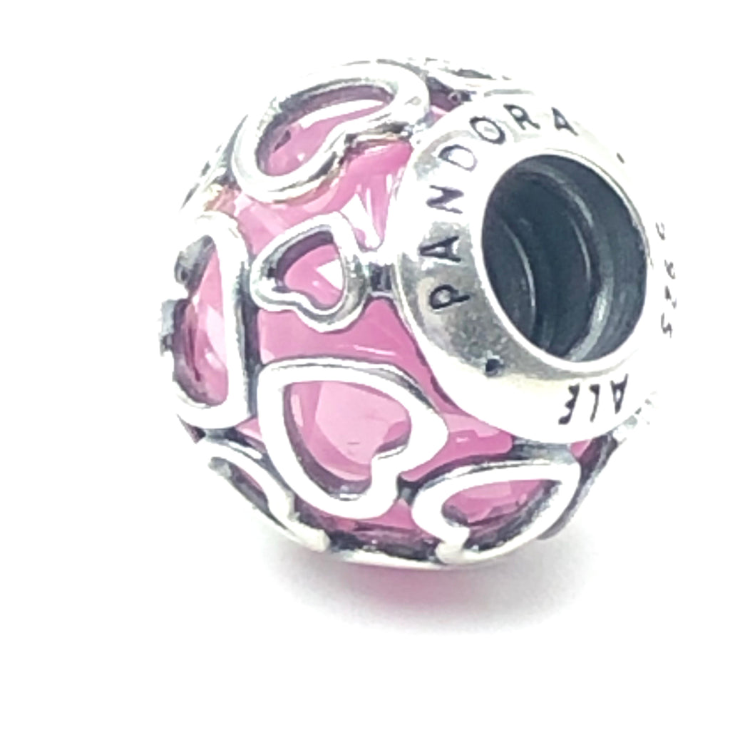 Pandora Pink Encased In Love 925 ALE Silver Charm