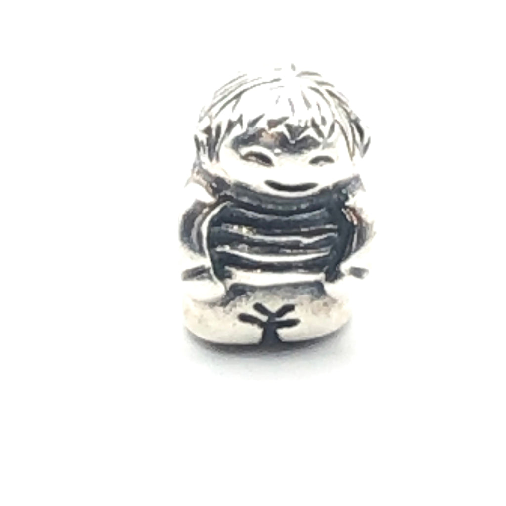 PANDORA Boy 925 ALE Sterling Silver Charm Young Boy Family Bead 790360 - Retired