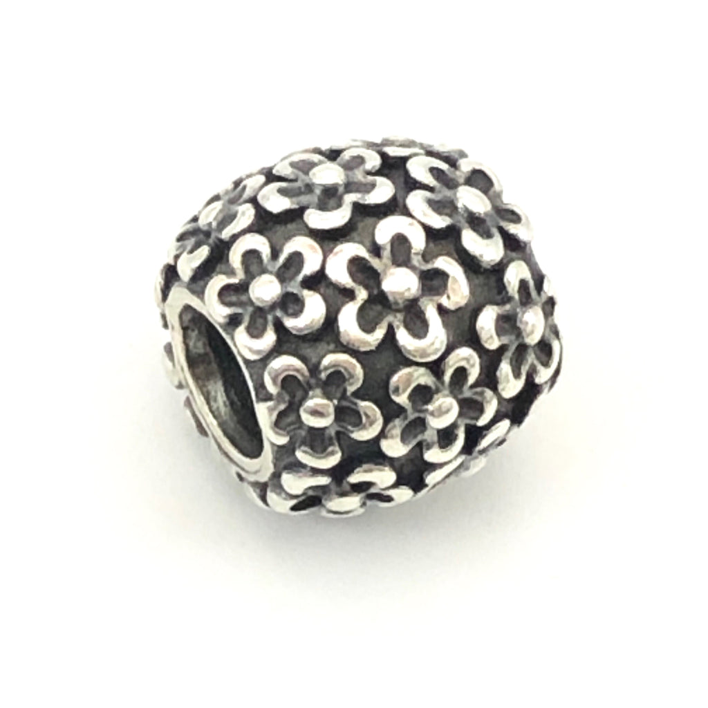 PANDORA Perfect Posies 925 ALE Sterling Silver Charm Flower Bead 790566 - Retired