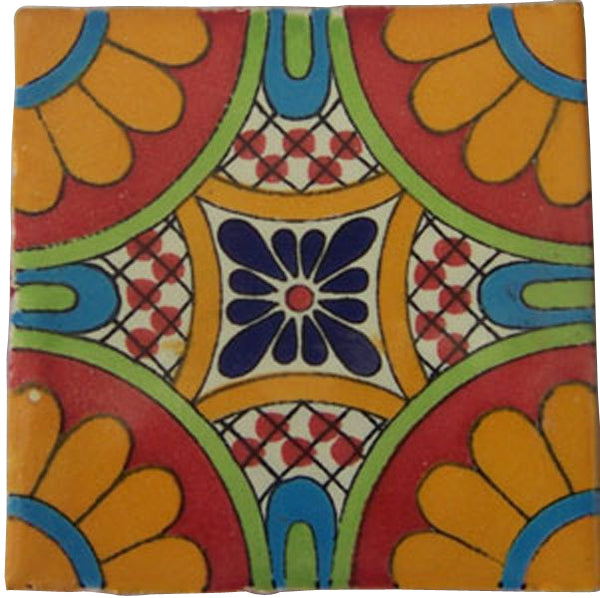 "70 Mexican Hand Painted Talavera Tiles 4"" X 4"""