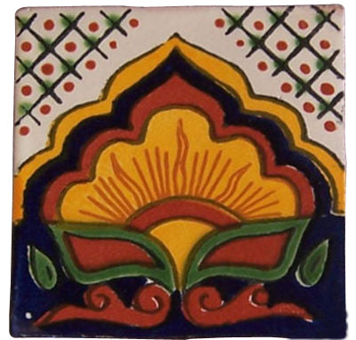 "Mexican Hand Painted Talavera Tiles 4"" X 4"""