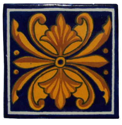 "10 Mexican Hand Painted Talavera Tiles 4"" X 4"""