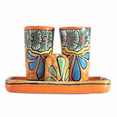 Authentic Mexican Talavera Tequila Set