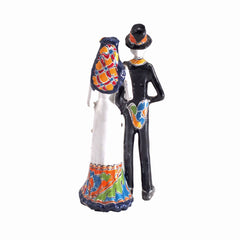 Authentic Talavera Day of the Dead Wedding Couple