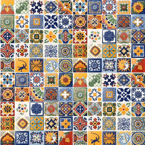 "350  Mexican Hand Painted Custom Talavera Tile  Set 4"" X 4"""