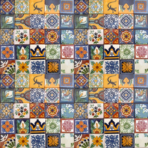 "110 Hand Painted Talavera Mexican Tiles 2""x2""-"