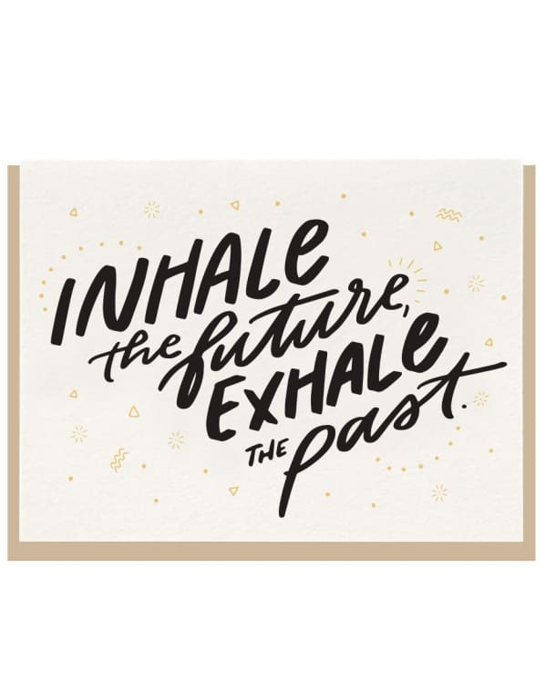 Dahlia Press - Inhale Exhale Letterpress Default Urban Escape