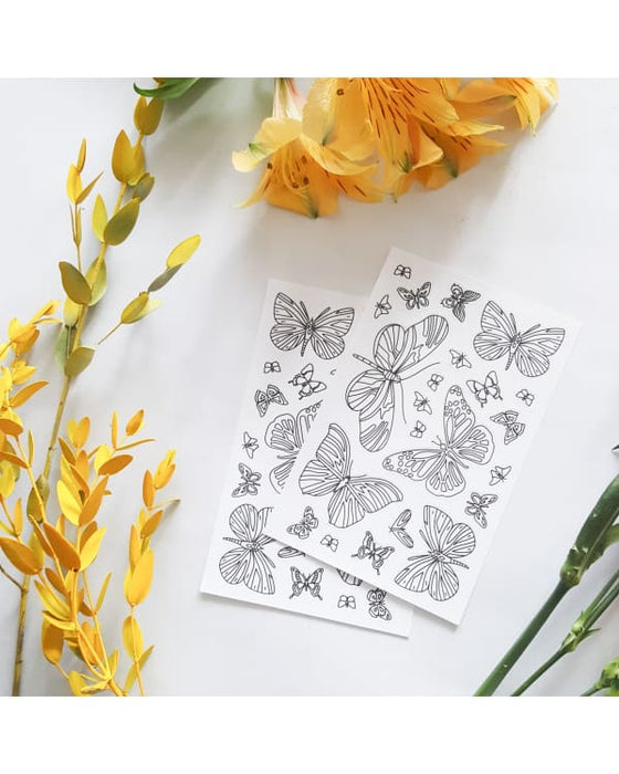 Anna Grunduls Design - Butterfly Coloring Stickers 2 Sheets Urban Escape