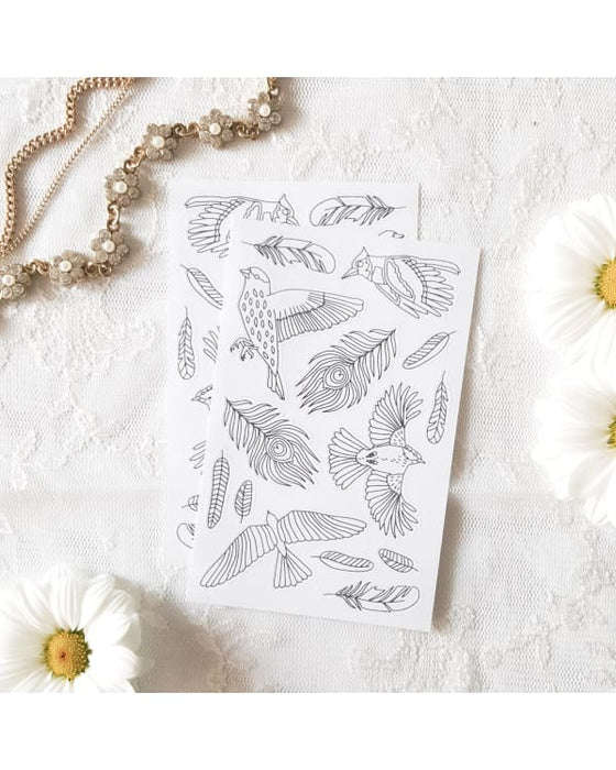 Anna Grunduls Design - Birds Coloring Stickers 2 Sheets Urban Escape