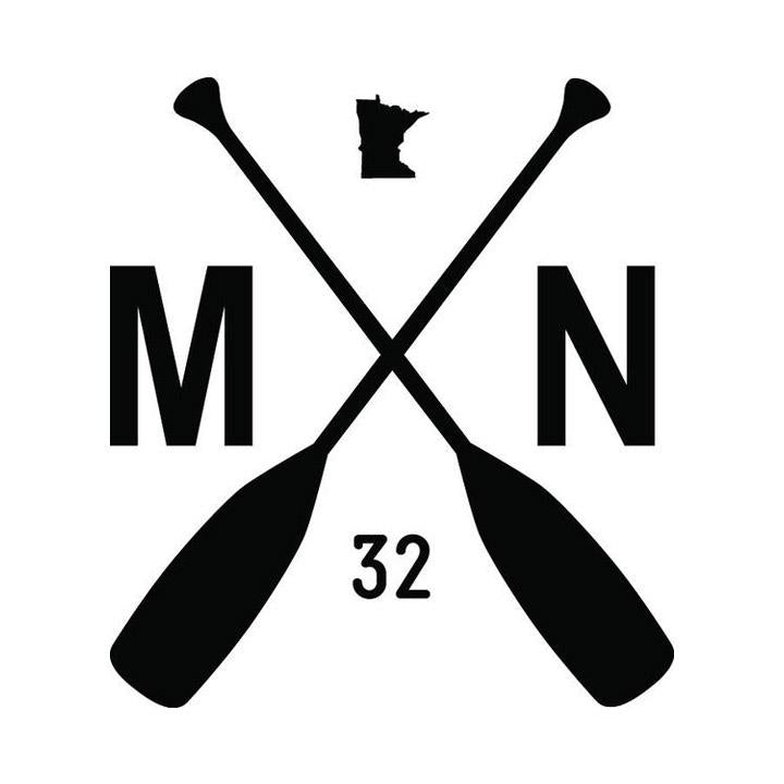 MN PADDLE decal [white]