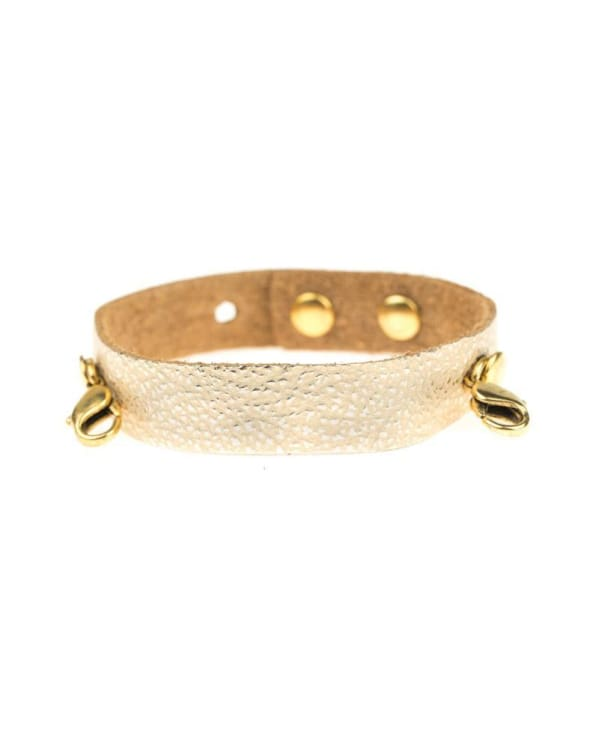 CHAMPAGNE LEATHER CUFF [gold]