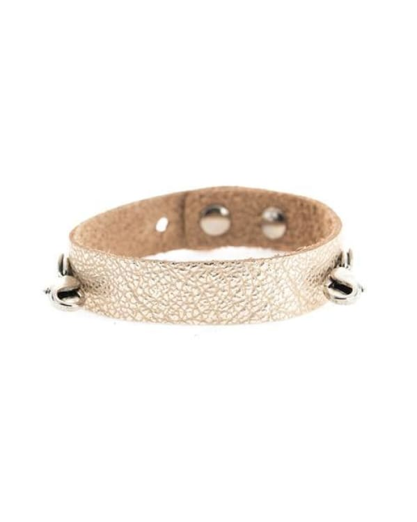 Champagne Leather Cuff [Silver] L&e Urban Escape