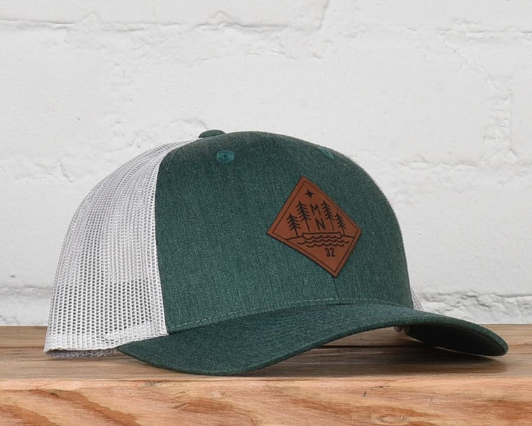 evergreen mn snapback hat
