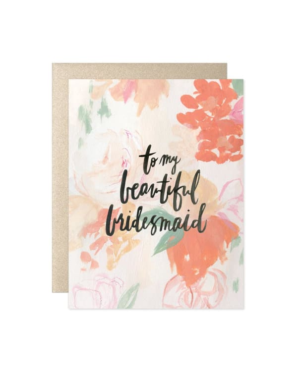 To My Beautiful Bridesmaid [Card] Cards Urban Escape