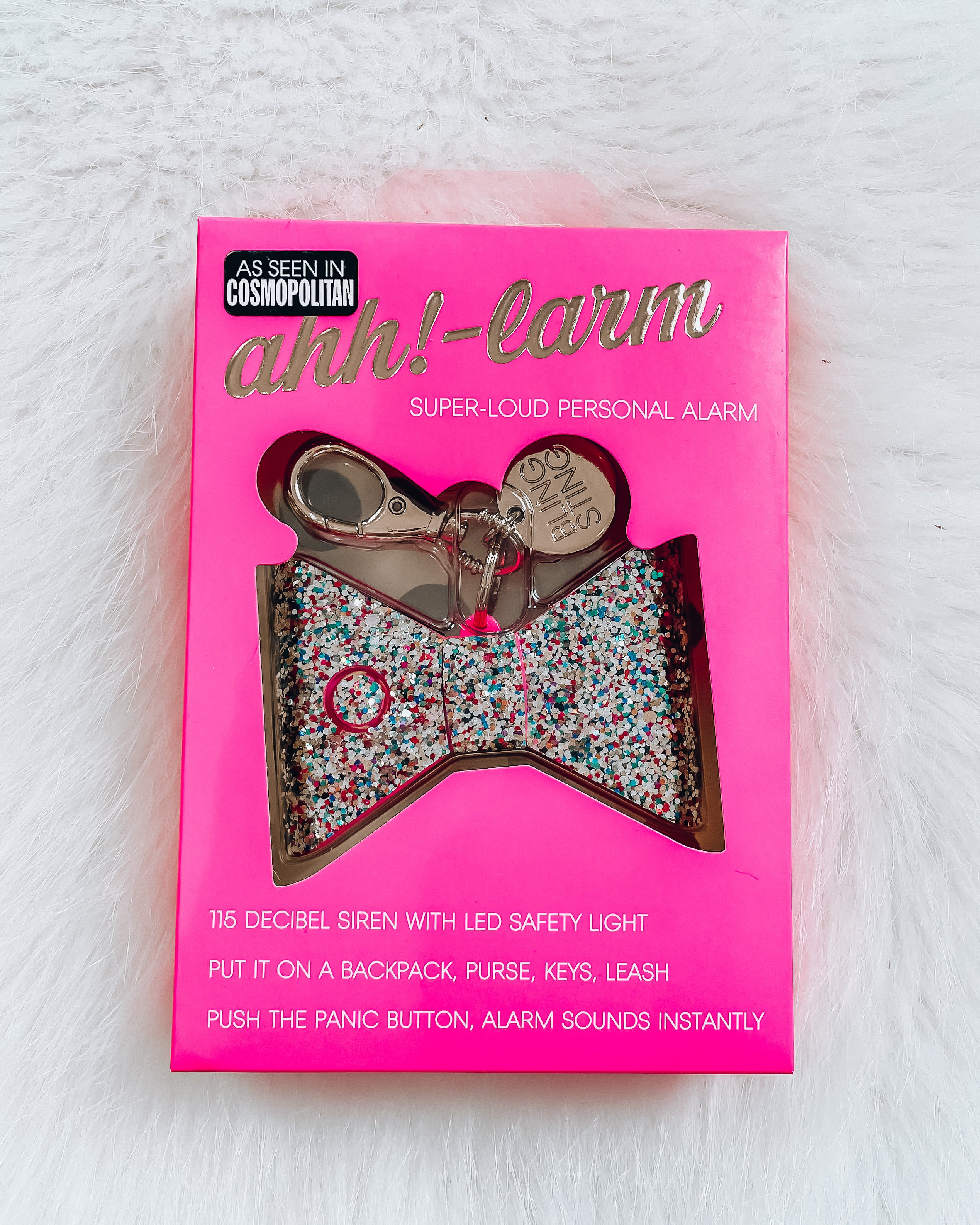 Bow Safety Alarm Keychain [rainbow]