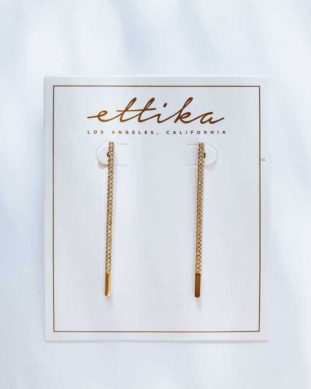 STRAIGHT TO THE POINT EARRINGS [gold]