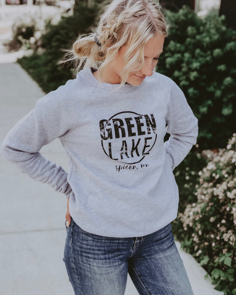 GREEN LAKE VIBIN crewneck [grey]