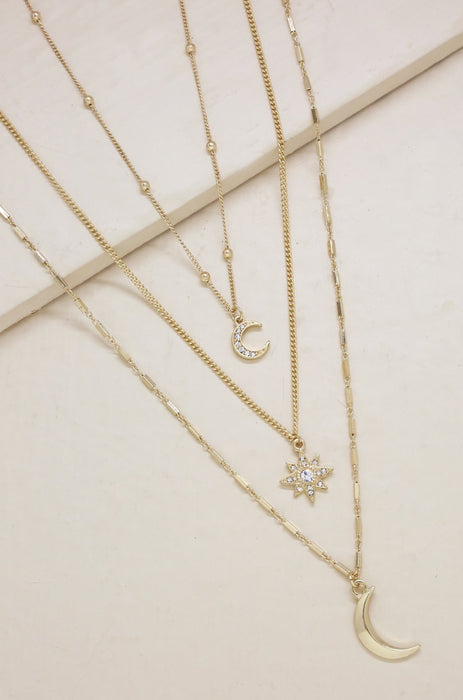 NIGHT SKY necklace set [gold]