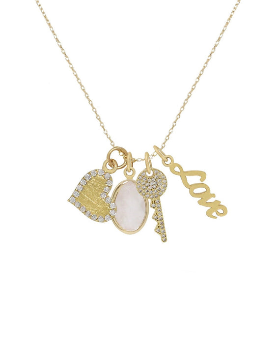 LOVE TO LOVE charm necklace [gold]