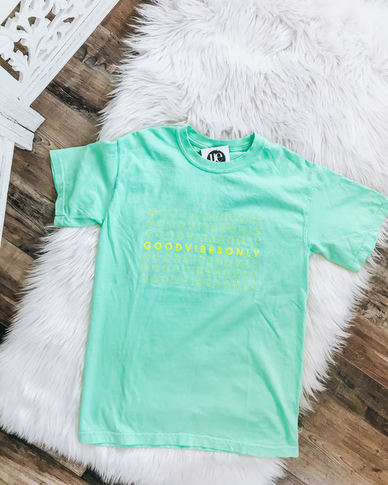 good vibes only [mint/neon yellow]