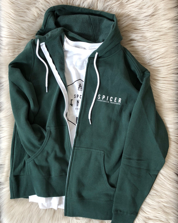 ROLLING HILLS spicer full zip [alpine green]