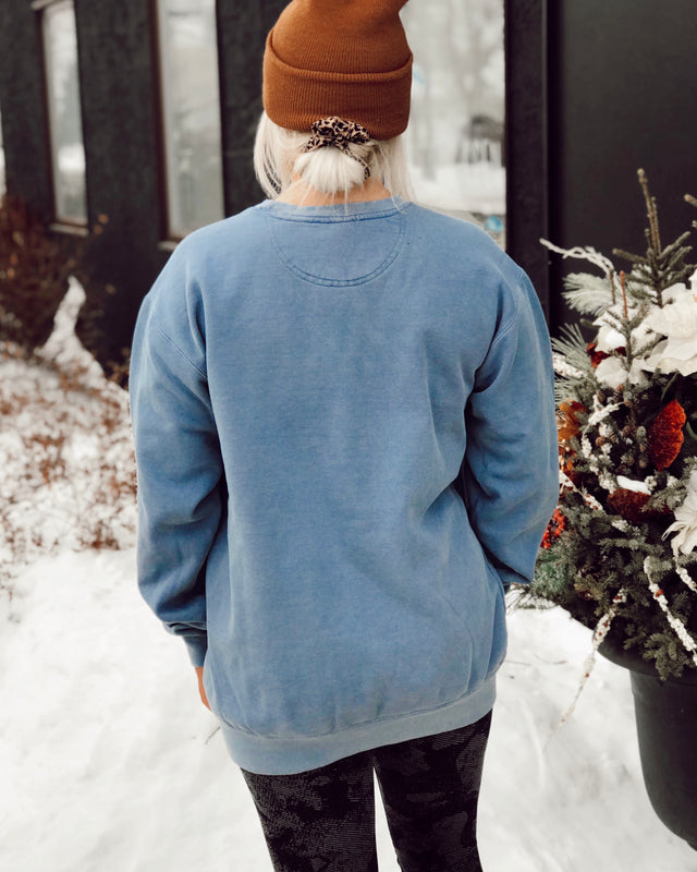 COFFEE 'TIL COCKTAILS sweatshirt [blue]
