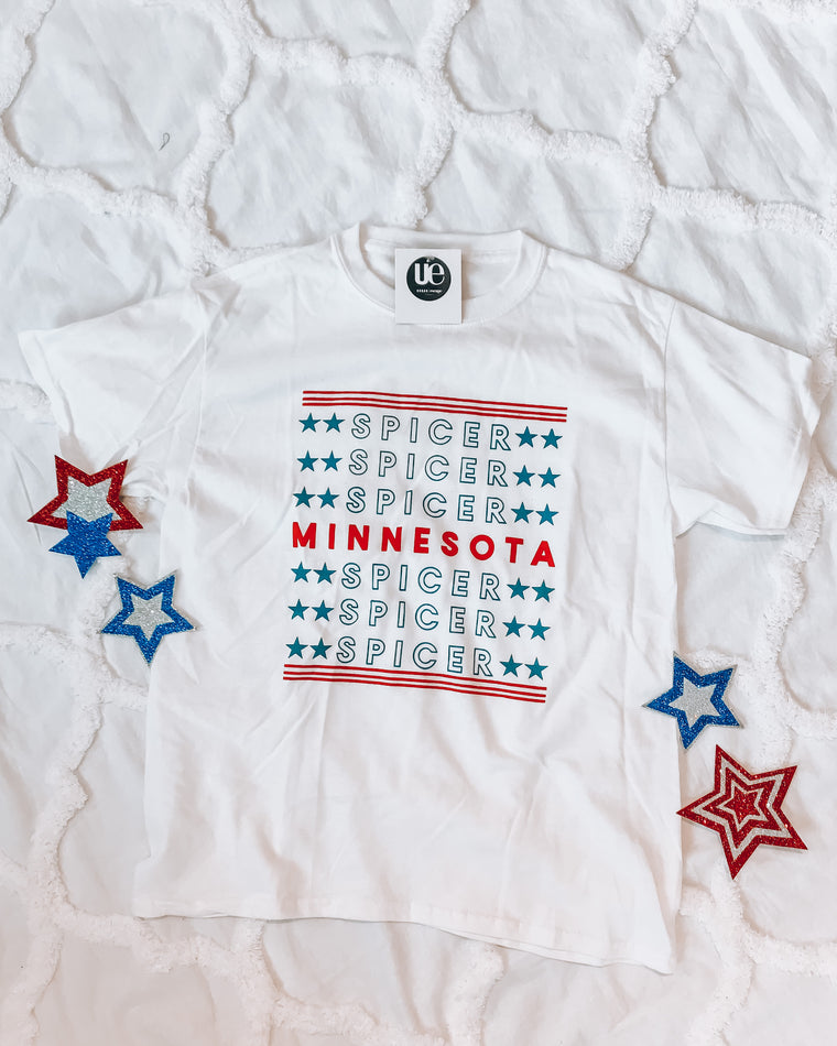 youth spicer minnesota 2020 tee [white]