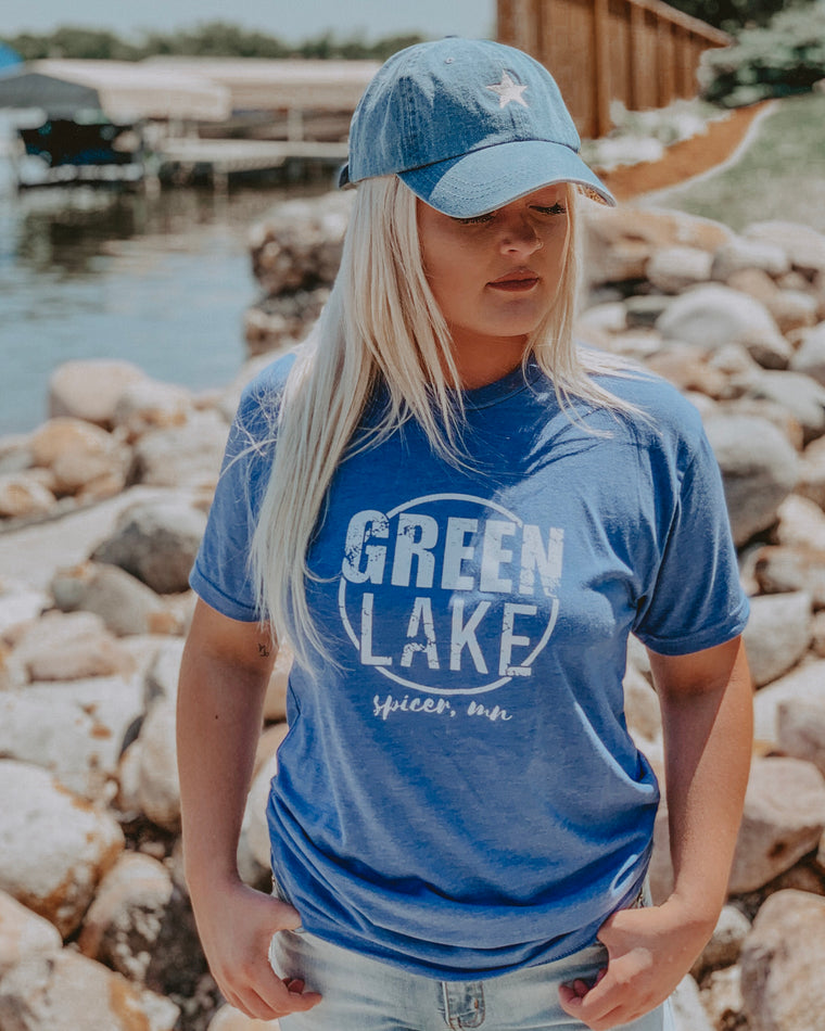GREEN LAKE VIBIN tee [blue]