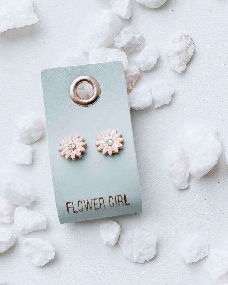 Diamond Stud Earrings [Flower Girl]