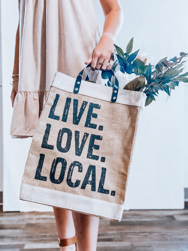 live love local [market tote]