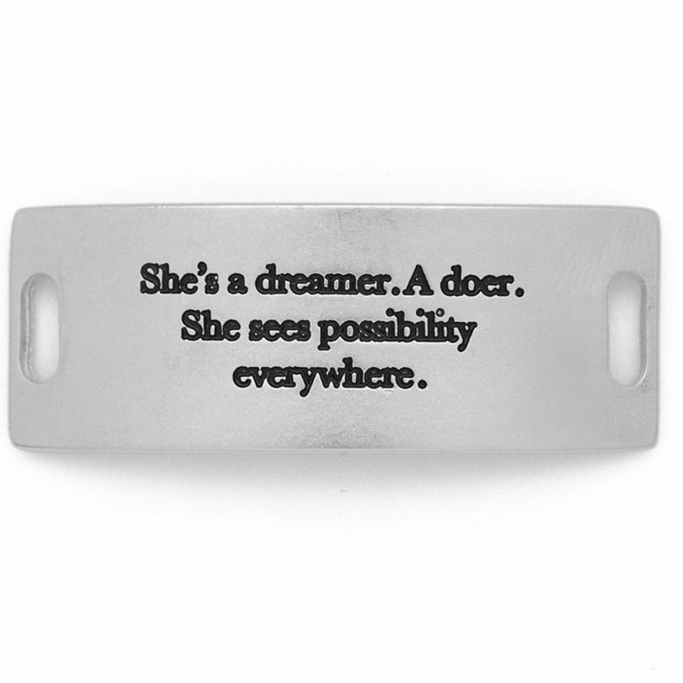 she's a dreamer... sentiment [silver]