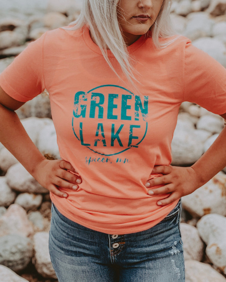 GREEN LAKE VIBIN tee [coral]