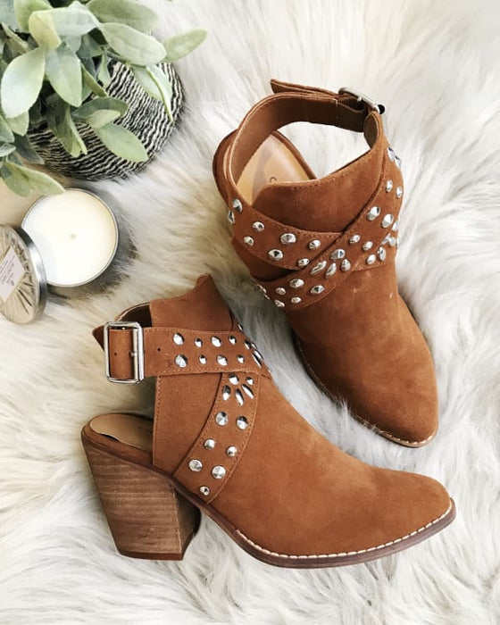 Small Town Split Booties [Rusty Brown] Shoes Urban Escape