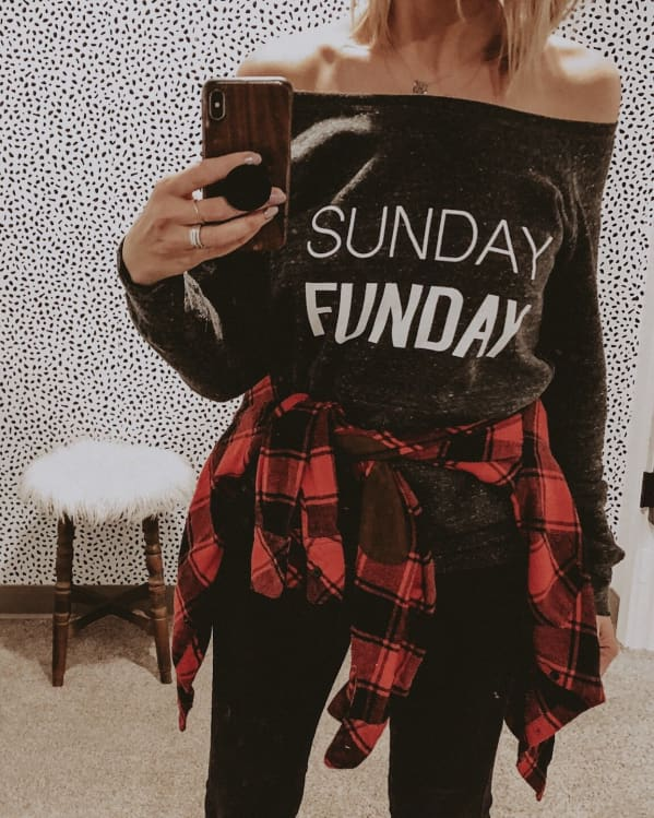 SUNDAY FUNDAY sweatshirt [grey]