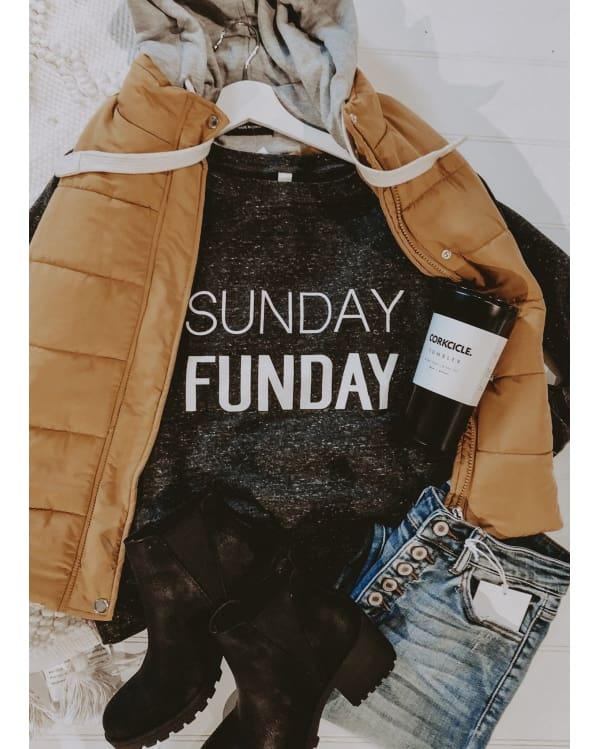Sunday Funday Sweatshirt [Grey] Graphic Tees Urban Escape