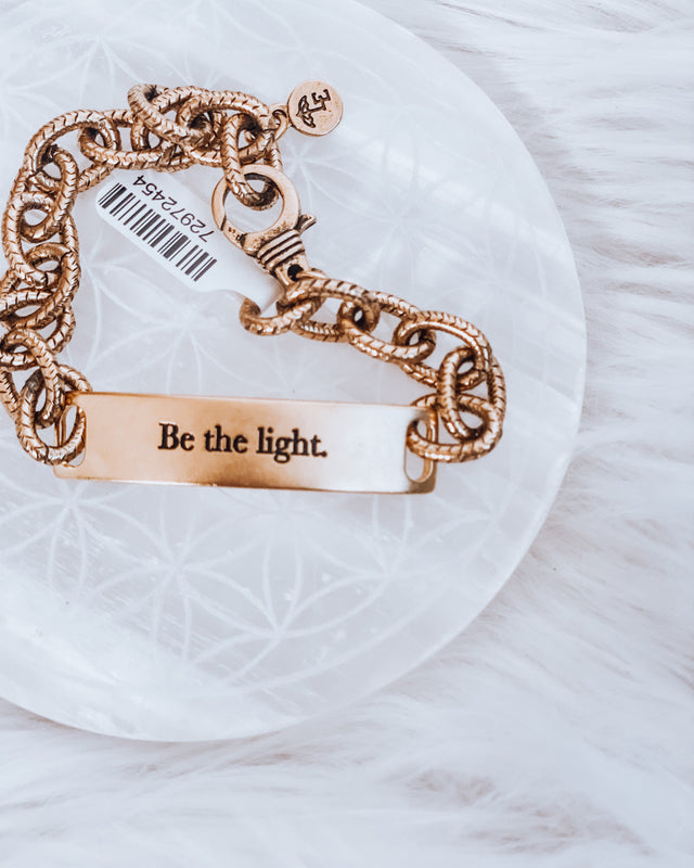 Linked Bracelet gold [be the light]