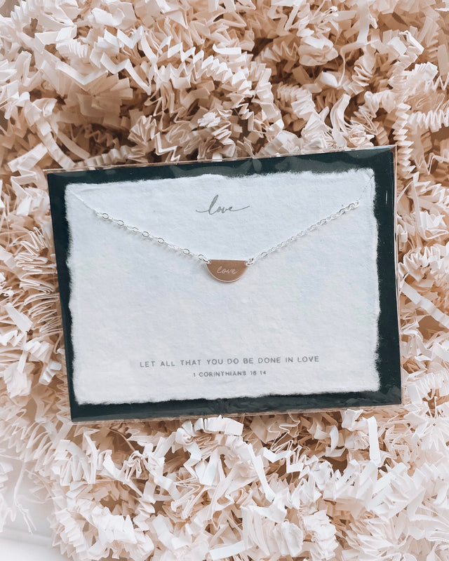 LOVE - sterling silver necklace