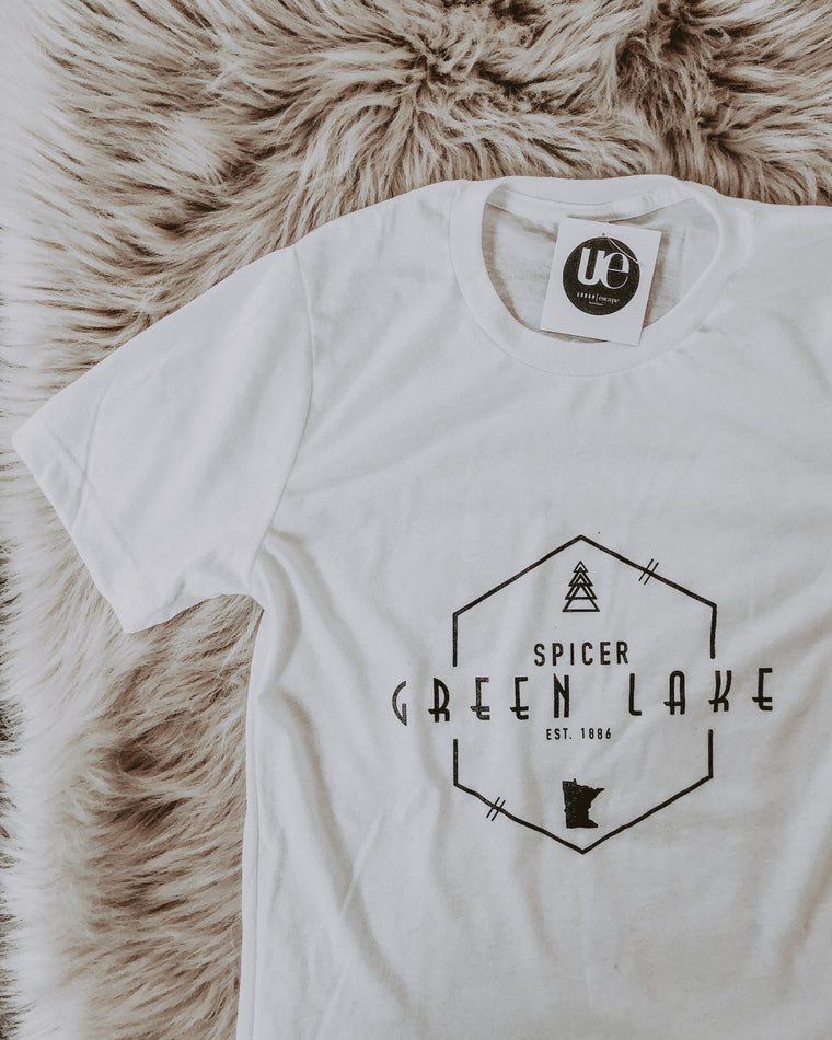 CLASSIC GREEN LAKE tee [white]