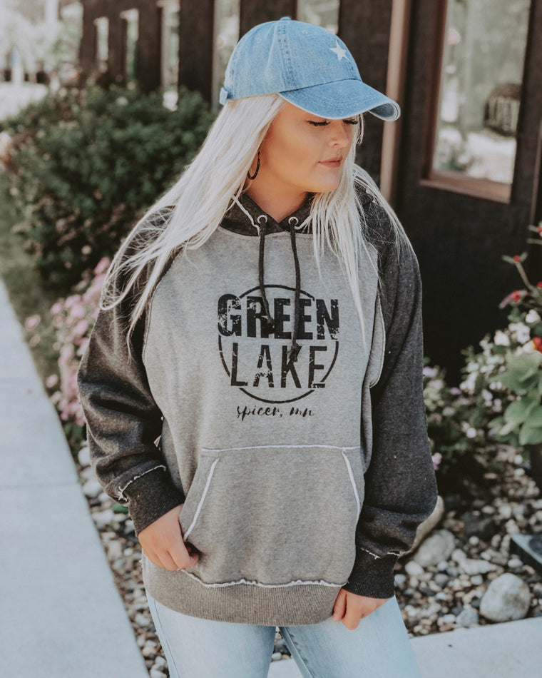 GREEN LAKE VIBIN sweatshirt [two toned grey]