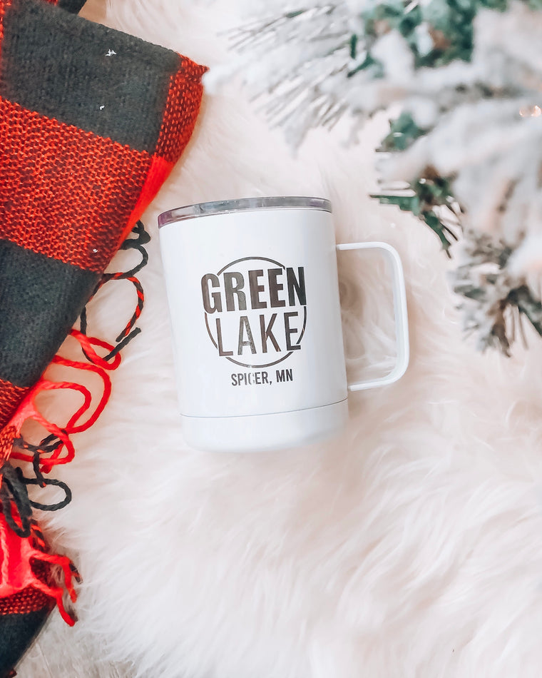 green lake spicer mn stainless steel to go mug [10oz]