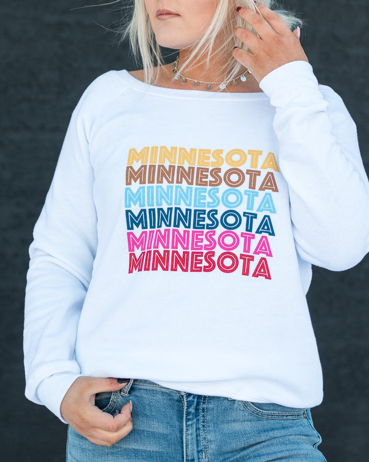 RETRO MINNESOTA sweatshirt [white]